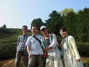 【茶畑訪問】茶畑オーナー植前さま、茶畑ご訪問